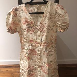 H&M Mini Floral Dress New Without Tags